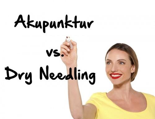 Akupunktur vs. Dry Needling